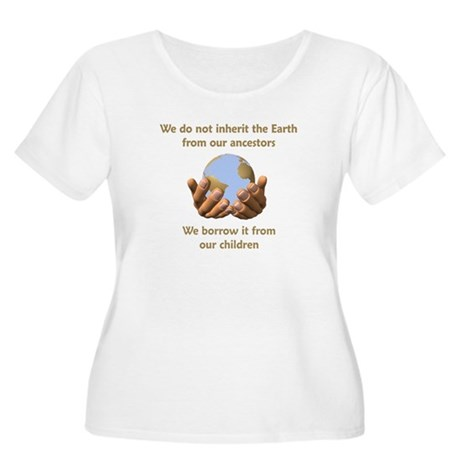 Earth Day Women's Plus Size Scoop Neck T-Shirt