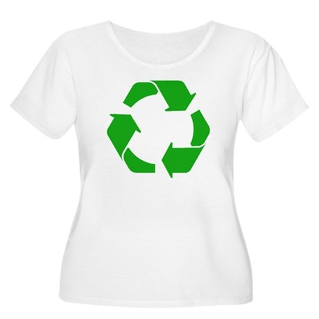 Recycle Women's Plus Size Scoop Neck T-Shirt