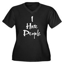 Cute I hate you Women's Plus Size V-Neck Dark T-Shirt