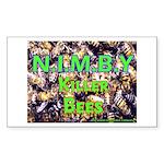 NIMBY Killer Bees Rectangle Sticker