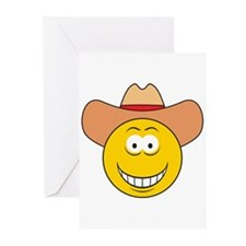 Cowboy Smiley Face Greeting Cards (Pk of 10)