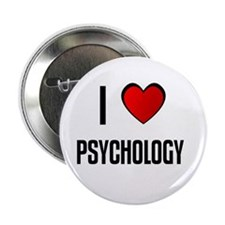 "I LOVE PSYCHOLOGY 2.25"" Button (10 pack)"