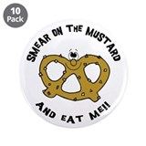 "Smear On The Mustard 3.5"" Button (10 pack)"