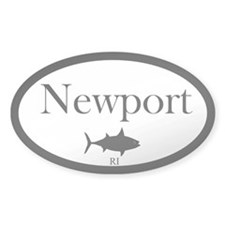"False Albacore Destination"" Oval Sticker (50 pk)"