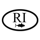 "False Albacore Destination"" Oval Sticker (10 pk)"