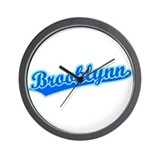 Retro Brooklynn (Blue) Wall Clock
