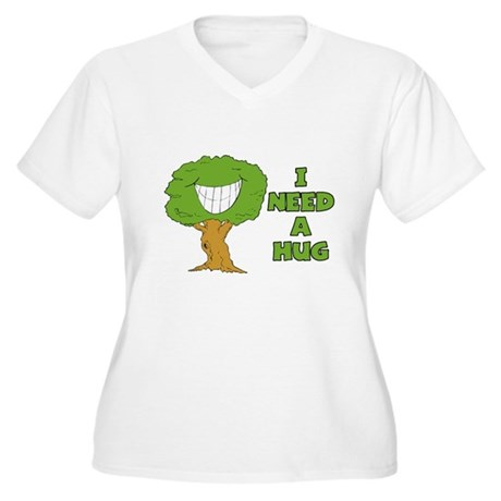 I Need A Hug Women's Plus Size V-Neck T-Shirt