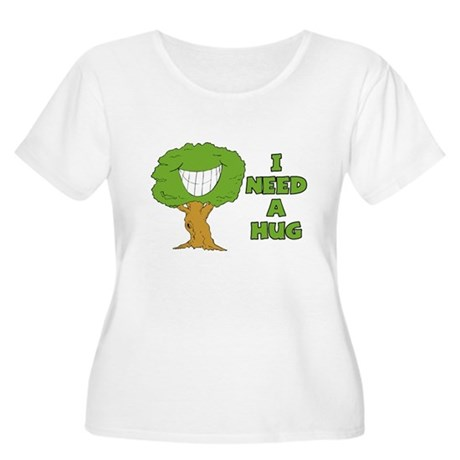I Need A Hug Women's Plus Size Scoop Neck T-Shirt