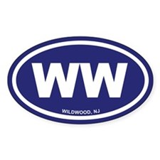 WW Wildwood, NJ Blue Oval Decal