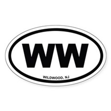 WW Wildwood, NJ Euro Oval Decal
