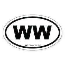 WW Wildwood, NJ Euro Oval Decal