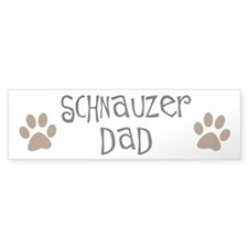 Paw Prints Schnauzer Dad Bumper Bumper Sticker