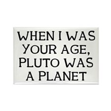 When Pluto Rectangle Magnet