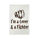 I'm A Lover And A Fighter MMA Rectangle Magnet (10