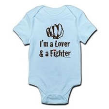 I'm A Lover And A Fighter MMA Gear Infant Onesie