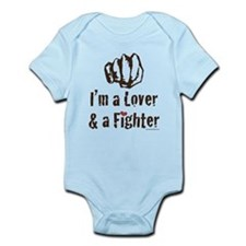 I'm A Lover And A Fighter MMA Infant Bodysuit
