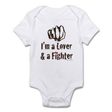 I'm A Lover And A Fighter MMA Infant Onesie