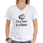 I'm A Lover And A Fighter MMA Women's V-Neck T-Shi