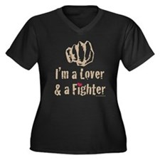 I'm A Lover And A Fighter MMA Women's Plus Size V-