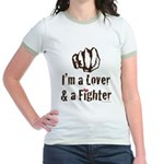 I'm A Lover And A Fighter MMA Jr. Ringer T-Shirt