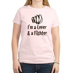 I'm A Lover And A Fighter MMA Gear Pink T-Shir