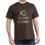 I'm A Lover And A Fighter MMA Dark T-Shirt
