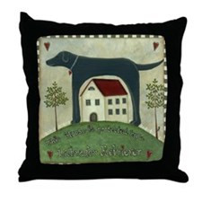 Primitive Labrador 2 Throw Pillow