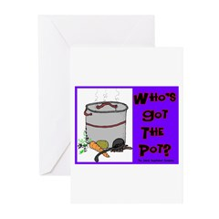 Who's Got The Pot Greeting Cards (Pk of 10)