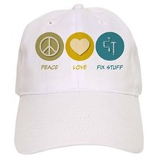 Peace Love Fix Stuff Baseball Cap