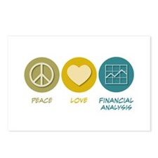 Peace Love Financial Analysis Postcards (Package o