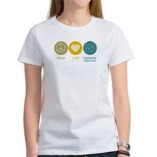 Peace Love Financial Analysis Tee