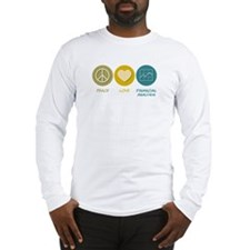 Peace Love Financial Analysis Long Sleeve T-Shirt