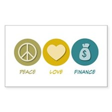 Peace Love Finance Rectangle Decal