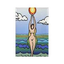 Fertility Goddess Rectangle Magnet