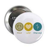 "Peace Love Feng Shui 2.25"" Button (100 pack)"