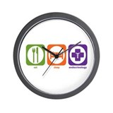 Eat Sleep Endocrinology Wall Clock