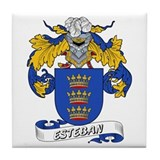 Esteban Family Crest Tile Coaster
