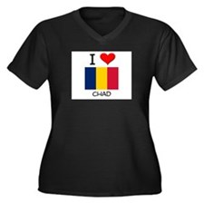 I Love Chad Women's Plus Size V-Neck Dark T-Shirt