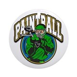 Paint Ball Logo Ornament (Round)