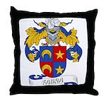 Fabra Family Crest Throw Pillow