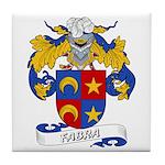 Fabra Family Crest Tile Coaster