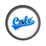 Retro Cale (Blue) Wall Clock