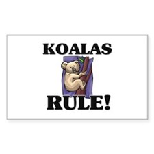 Koalas Rule! Rectangle Decal