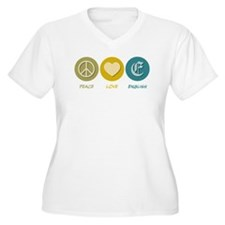 Peace Love English T-Shirt