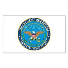 DEFENSE-DEPARTMENT-SEAL Rectangle Decal