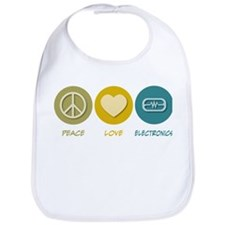 Peace Love Electronics Bib