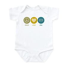 Peace Love EEG Infant Bodysuit