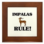 Impalas Rule! Framed Tile