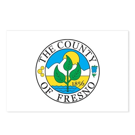 FRESNO-COUNTY-SEAL Postcards (Package of 8)