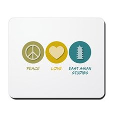 Peace Love East Asian Studies Mousepad